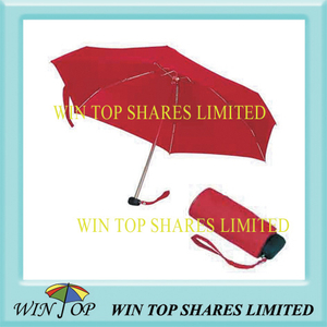 Easily Carrying 5 Fold Red Umbrella