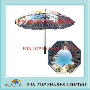 One Piece Canopy Digital Printing Umbrella